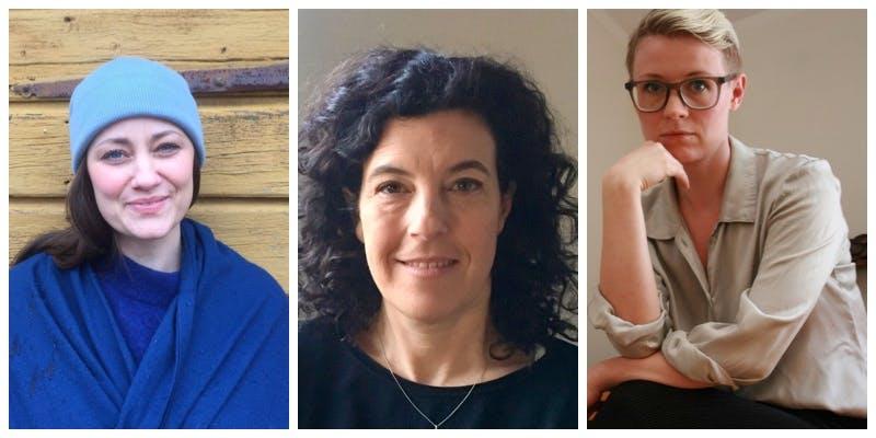 Lovisa Algesten bor på Holmön i Bottniska viken, Liv Svirsky är psykolog och Tanja Suhinina är psykolog och sexolog.