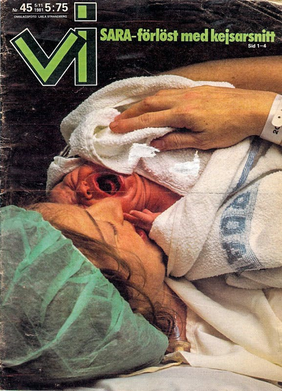 Sarah Dawn Finer på Vi:s omslag 1981.
